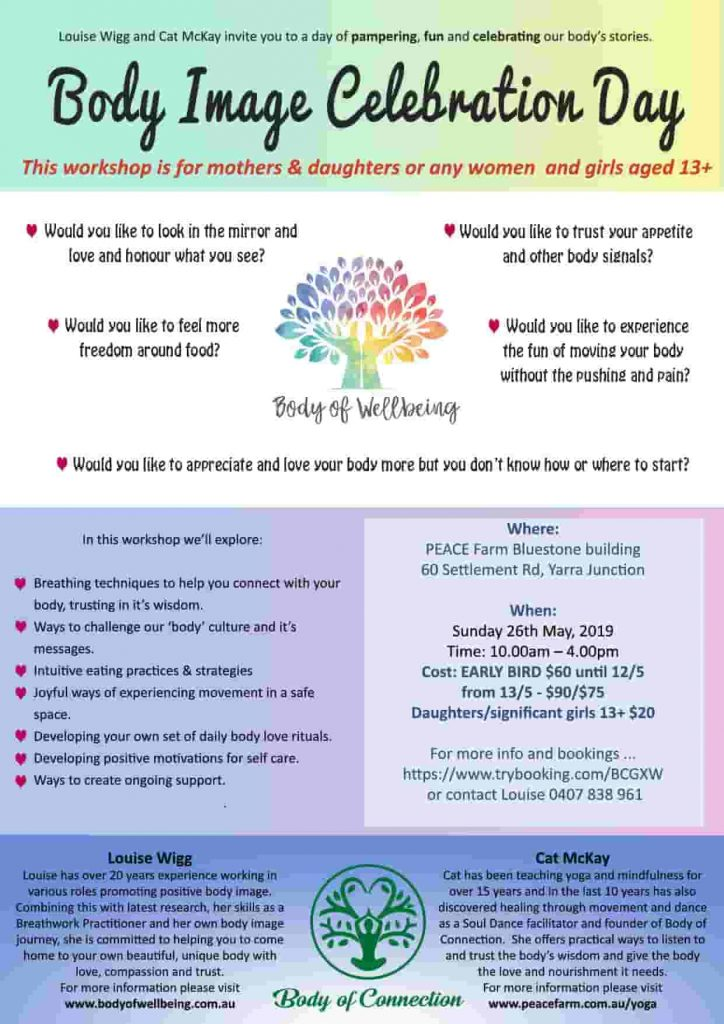 Body Image Celebration Day Yarra Junction May 2019